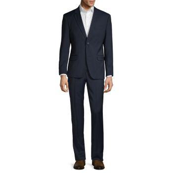 Приталенный костюм из текстурированной шерсти Ben Sherman