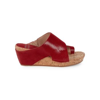 Gretta Leather Wedge Sandals Donald J Pliner