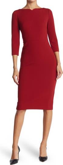 Платье-футляр с вырезом сердечком Maggy London