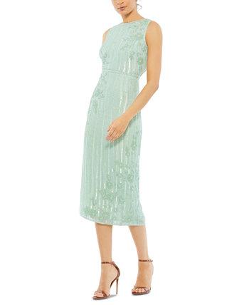 Платье миди с блестками MAC DUGGAL