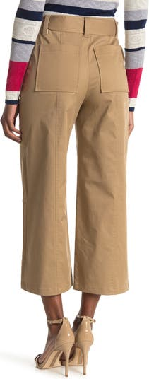 Utility Pocket Wide Leg Twill Pants Jason Wu