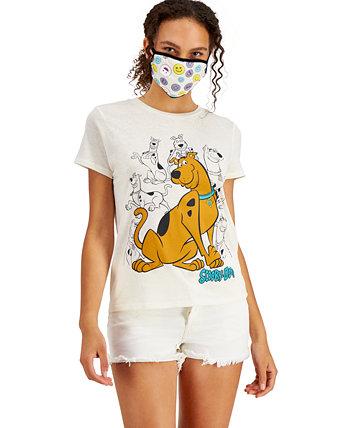 Футболка и маска для лица Скуби-Ду с графическим принтом для юниоров Freeze 24-7