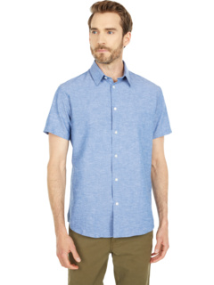 Классическая льняная рубашка с коротким рукавом Selected Homme