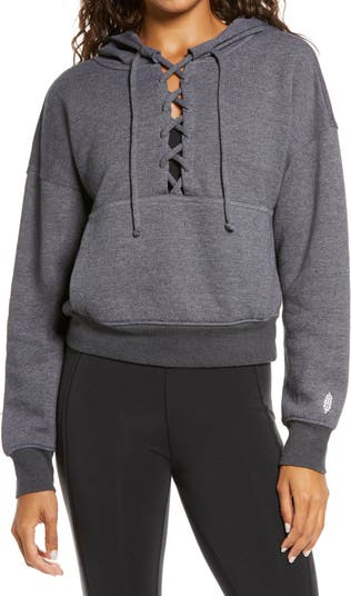 Free People FP Movement Believe It Lace-Up Hoodie Free People Movement