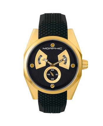 Серия M34, часы из золотистого / черного силикона, 44 мм Morphic