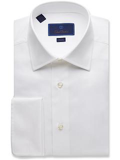 Классическая рубашка Micro Birdseye Trim Fit David Donahue