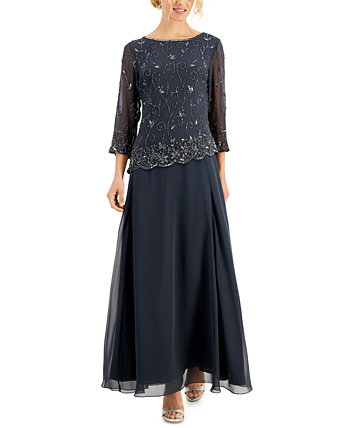 Платье с вышивкой из бисера J Kara
