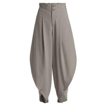 Раскладывающиеся брюки с круглым низом Issey Miyake