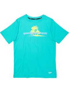 Плавательная рубашка с коротким рукавом с рисунком (для маленьких / больших детей) Speedo Kids