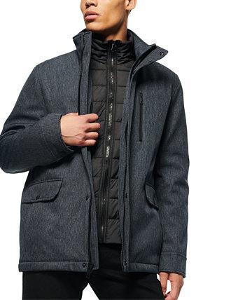Мужская куртка Mullins Melange Tech с воротником-стойкой Marc New York by Andrew Marc