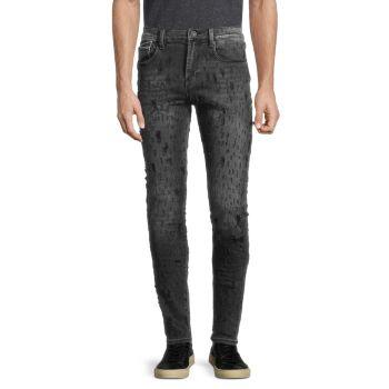 Панк суперскинни рваные джинсы Cult Of Individuality