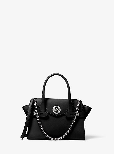 Маленькая сумка-портфель Carmen с ремнем из сафьяновой кожи Michael Kors