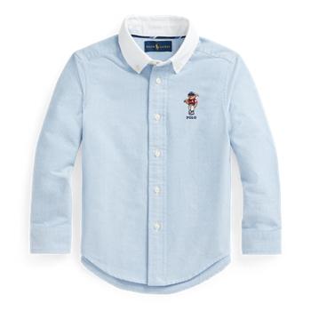 Polo Bear Cotton Oxford Shirt Ralph Lauren