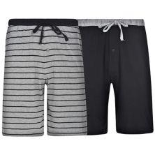 Men's Hanes® 2-pack Knit Sleep Shorts Hanes