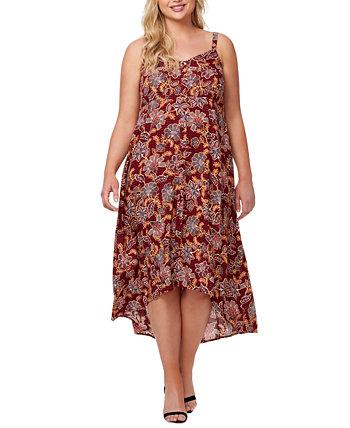 Plus Trendy Fria Printed Smocked-Back Dress Jessica Simpson