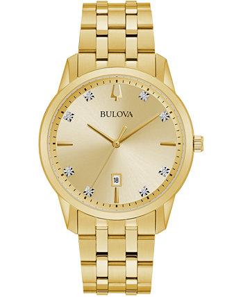 Мужские часы-браслет из нержавеющей стали с золотым оттенком Sutton 40мм Bulova