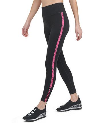 Sport Women's Snake-Embossed Striped Leggings DKNY