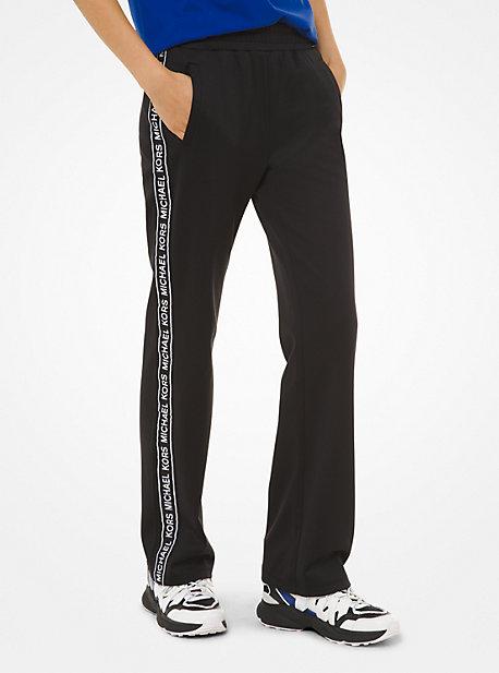 Спортивные брюки из понте с тесьмой с логотипом Michael Kors