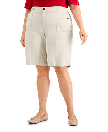 Plus Size Top-Stitched Shorts, Created for Macy's Karen Scott