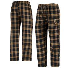 Мужские Concepts Sport Черный / Золотой Фланелевые брюки для сна Vegas Golden Knights Parkway Unbranded