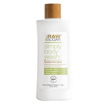 Raw Sugar Living Mini Sensitive Skin Body Wash - Green Tea + Cucumber + Aloe Vera Raw Sugar Living