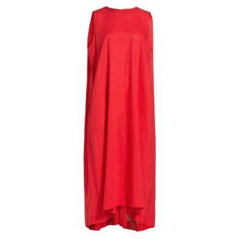 Платье миди с трапецией Issey Miyake