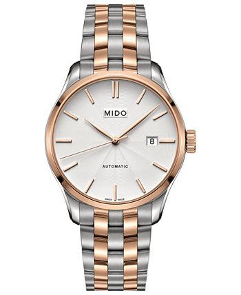 Мужские швейцарские двухцветные часы-браслет из нержавеющей стали Belluna II 40мм 40мм MIDO