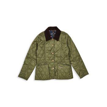 Летняя стеганая куртка Little Girl's and Girl's Liddesdale Barbour