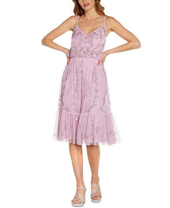 Sequin Flounce Dress Adrianna Papell