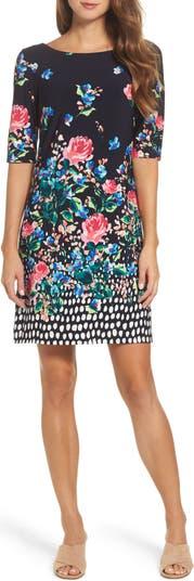 Платье прямого кроя из джерси Eliza J