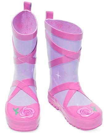 Ботинки дождя балета маленьких девочек Kidorable