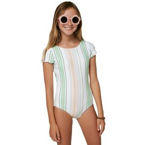 O'Neill Beach Stripe Cap Sleeve One-Piece Swimsuit O'Neill