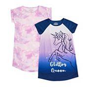 Girls 6-16 Cuddl Duds® 2-Pack Nightgowns Cuddl Duds