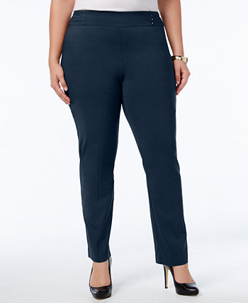 Плюс и миниатюрные узкие брюки с широкими штанинами большого размера, созданные для Macy's J&M Collection