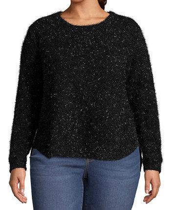 Плюс размер металлический пуловер свитер John Paul Richard