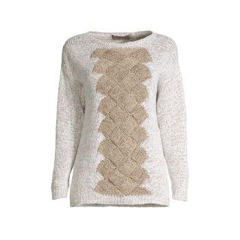 Клетчатый свитер из плетеной ткани D. Exterior