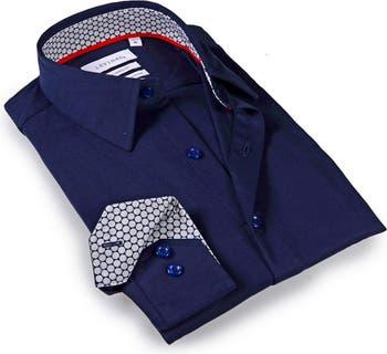 Классическая рубашка строгого кроя с однотонной отделкой Levinas
