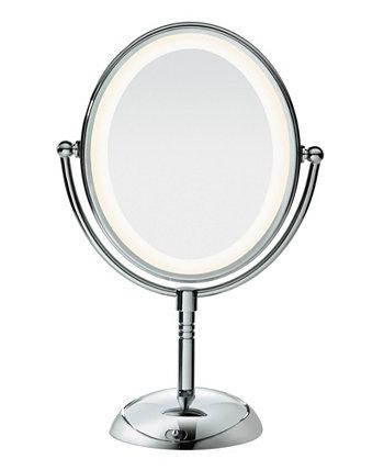 Овальное светодиодное долговечное освещение Двустороннее зеркало Conair