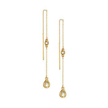 Goldtone & amp; Серьги с кристаллами Oscar de la Renta