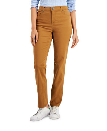 High-Rise Natural Straight-Leg Jeans, Created For Macy's Style & Co