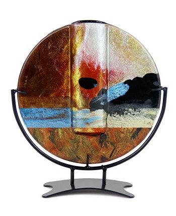Круглая ваза 8 x 8 дюймов Jasmine Art Glass