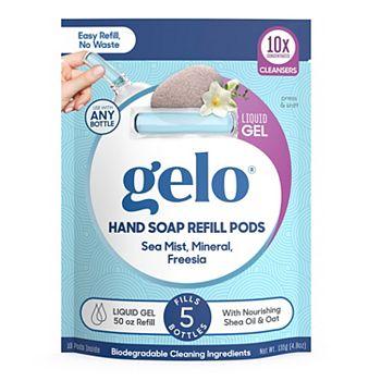Gelo Liquid Gel Hand Soap Refill Pods - Sea Mist, Mineral, Freesia, 50 fl oz Gelo