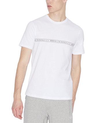 Мужская футболка с горизонтальным логотипом Armani Exchange