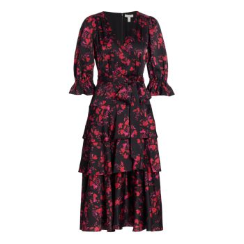 Многослойное платье-миди ML Monique Lhuillier