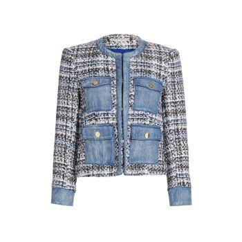 Куртка Avis Combo с накладными карманами Alice + Olivia
