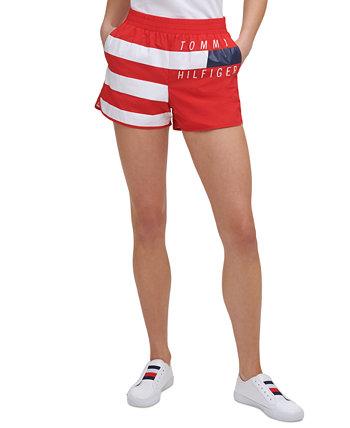 Women's Striped Logo Shorts Tommy Hilfiger