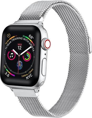 Сменный ремешок для Apple Watch с узкой сеткой из нержавеющей стали - 38 мм / 40 мм POSH TECH