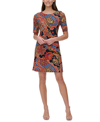 Plus Size Paisley-Print Dress Tommy Hilfiger