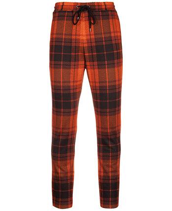Мужские спортивные штаны в клетку в ржавчину Paisley & Gray