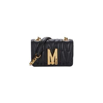 Стеганая кожаная сумка через плечо Moschino